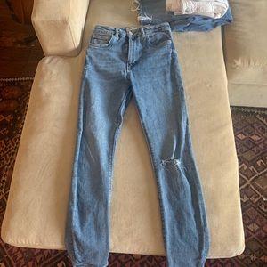 Zara Light wash high waisted skinny jeans